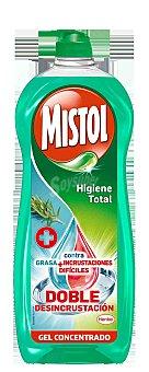 Mistol Lavavajillas a mano concentrado Higiene Total contra grasa e incrustaciones botella 650 ml Botella 650 ml