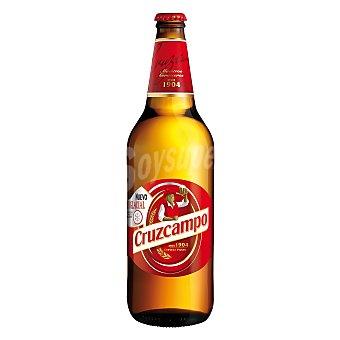 CRUZCAMPO cerveza rubia nacional  botella 75 cl