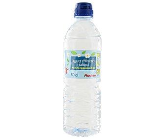 Auchan Agua Mineral Sin Gas Con Tapón Sport Botella 50 Centilitros