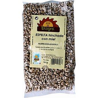 BIOGRA granos de espelta ecológica hinchada con miel envase 150 g