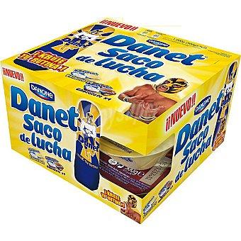 DANONE DANET natillas vainilla + natillas de pack 4 unidades 125 g