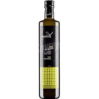 MESTRAL Aceite de oliva virgen extra 100% Arbequina Botella 750 ml