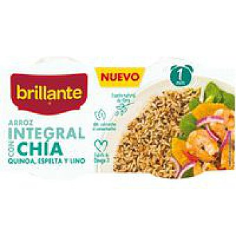 Brillante Arroz integral con chia pack 2x125 g