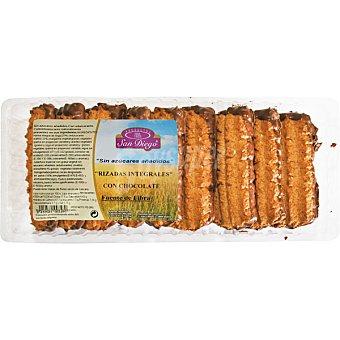 SAN DIEGO Galletas rizadas integrales con chocolate sin azúcares añadidos bandeja 175 g