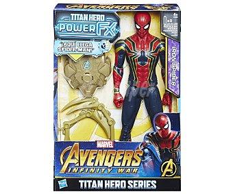 Spiderman Marvel Figura articulada interactiva de 30cm. Spiderman con mochila Power Fx con sonidos y frases, Los Vengadores, marvel
