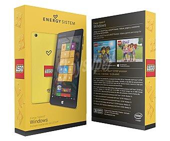 """Energy lego edition Tablets con pantalla de 8'' ENERGY SISTEM LEGO, procesador: Quad Core, Ram: 1GB, almacenamiento: 16GB ampliable mediante MicroSD, resolución: 1280x800px, cámara frontal y trasera, Windows 10 8,0"""" WiFi"""