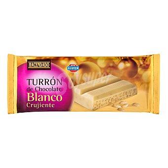 Hacendado Turrón de chocolate blanco crujiente  Pastilla 250 g