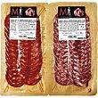 Chorizo-salchichón ibérico extra 2x100g Montaraz