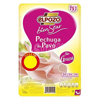 ELPOZO BIENSTAR Pechuga de pavo lonchas sin grasa 100 g