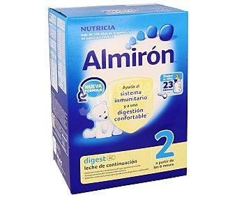 Almirón Nutricia Leche de continuación 2 a partir de los 6 meses del bebé 800g