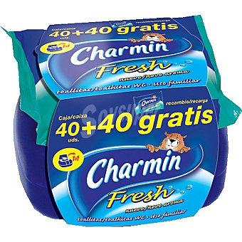CHARMIN Papel higiénico húmedo Fresh paquete 40 unidades + 40 gratis Paquete 40 unidades