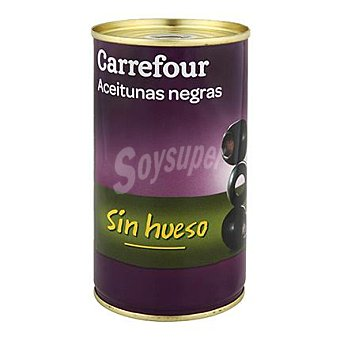 Carrefour Aceitunas negras sin hueso 150 g