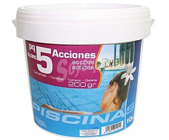 Pqs Tratamiento 5 funciones (Desinfectante, algicída, floculante, antical y regulador del PH) en tabletas de 200 gramos 10 Kilogramos