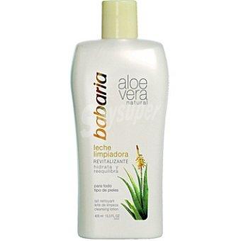 BABARIA leche limpiadora aloe vera natural revitalizante para todo tipo de piel  frasco 150 ml