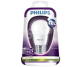 Philips Bombilla led esférica 3 W, con casquillo E27 (grueso) y luz cálida philips