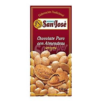 Horno San José Chocolate puro con almendras Tableta 150 g