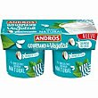 Postre cremoso natural Gourmand&Vegetal pack 2x120 g Andros