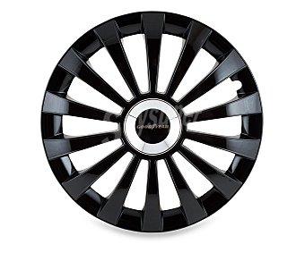 """Goodyear Juego de 4 tapacubos modelo Flexo 40 para ruedas de 14"""", de color negro y diseño robusto y plano con aspecto de llanta de aleación 1 unidad"""