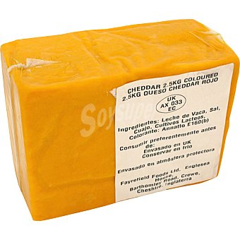 FAYREFIEL Queso cheddar inglés naranja pieza kg