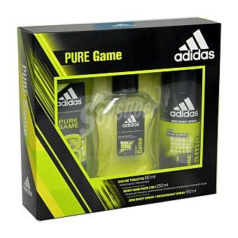 Adidas Estuche Pure Game (colonia 100 ml. + desodorante 150 ml. + gel/champú 250 ml.) 1 ud