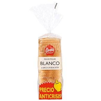 Ortiz Pan de molde blanco Bolsa 420 gr