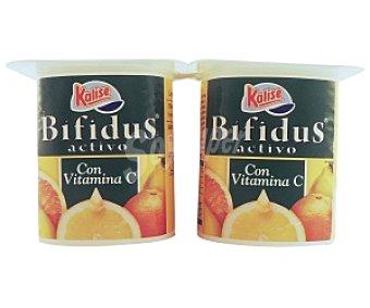 Kalise Yogur Bífidus Natural con vitamina c 4 Unidades de 125 Gramos