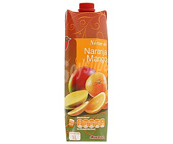 Auchan Néctar de naranja y mango Brick de 1 litro