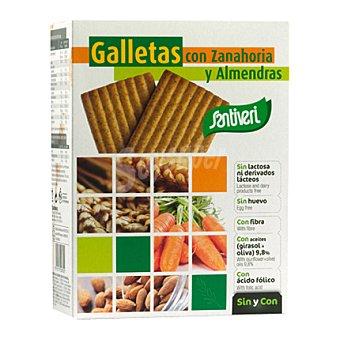Santiveri Galletas zanahorias almendras Pack de 2x245 g