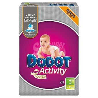 Dodot Activity Pañales Activity talla 3 (de 4 a 10 kg) 74 unidades