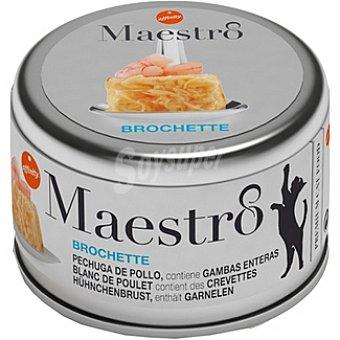 Affinity Brochette pechuga de pollo con gambas enteras para gato Maestro Lata 80 g