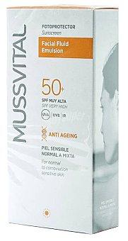 Mussvital Fotoprotector Facial Fluid Emulsion Spf Caja 50 ml