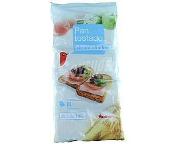 Auchan Pan Tostado Muy Bajo Contenido en Sal 80 Unidades (Paquete 720 Gramos)