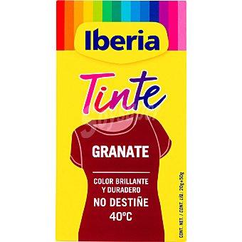 Iberia Tinte para ropa cambia el color granate caja 2 sobres