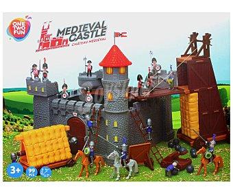ONE TWO FUN ALCAMPO Escenario de juego Gran Castillo Medieval con 99 piezas alcampo
