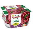 Especialidad fresca de soja con trozos de cerezas Pack 4 x 100 g Sojasun