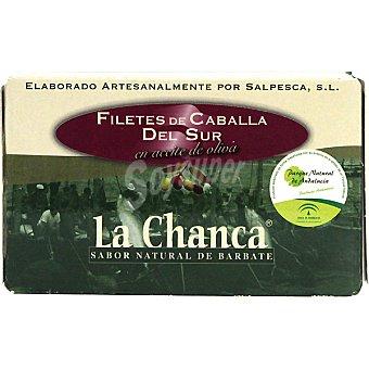LA CHANCA Filetes de caballa del sur en aceite de oliva Lata 85 g neto escurrido