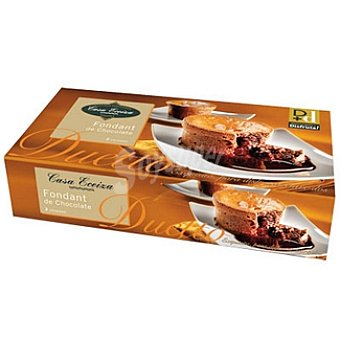 CASA ECEIZA Duetto Fondant de chocolate 2 unidades estuche 200 g 2 unidades