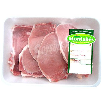 Chuletas de lomo de cerdo fresca bandeja familiar peso aproximado 900 g