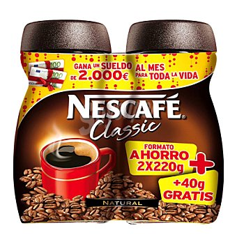 Nescafé Café soluble Classic Pack de 2x200 g
