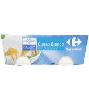 Carrefour Queso blanco pasteurizado con calcio Pack de 4x62,5 g