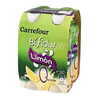 Carrefour Yogur Bífidus líquido 0% limón Pack 4x200 g