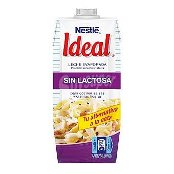 Ideal Nestlé Leche evaporada sin lactosa parcialmente desnatada Brik 525 g