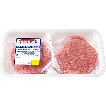 Arenas Hamburguesas de pollo 4 unidades bandeja 500 g 500 gr (4 unidades)