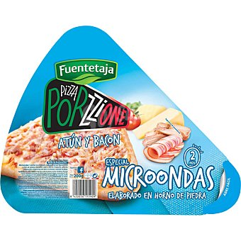 FUENTETAJA PORZZIONE Pizza individual de atún y bacon Envase 200 g