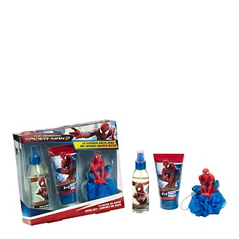 Spiderman Estuche colonia spray 140 ml. + gel-champú 150 ml. + esponja 1 ud