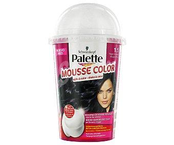 Palette Schwarzkopf Tinte Negro Azulado Nº1.1 Mousse Color 1u