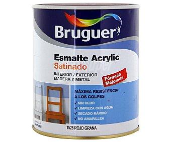 Bruguer Esmalte Decorativo Acrílico, Color Rojo Grana, Acabado Satinado 0,75 Litros