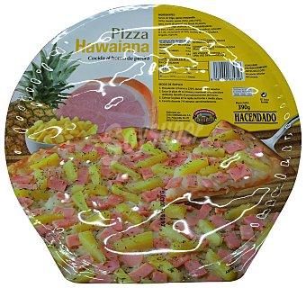 Hacendado Pizza congelada hawaiana (jamón, piña) 390 g