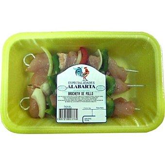ALABARTA Brochetas de pollo 3 unidades peso aproximado bandeja 300 g 3 unidades