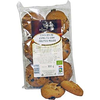 EL HORNO DE LEÑA Cookie de espelta con frutos rojos Envase 300 g